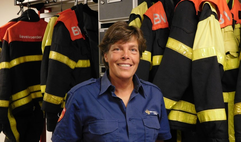 Willeke Geerts zit bij de vrijwillige brandweer