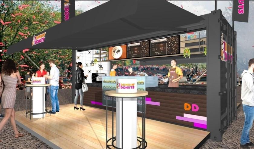 Pop-up winkel van Dunkin' Donuts bij Designer Outlet Roosendaal