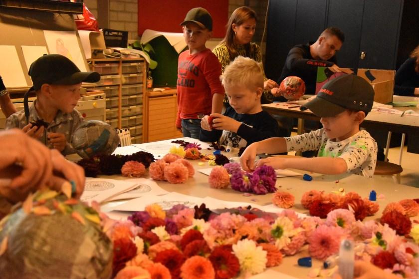 Het kindercorso werd door zo'n vijftig kinderen bezocht.