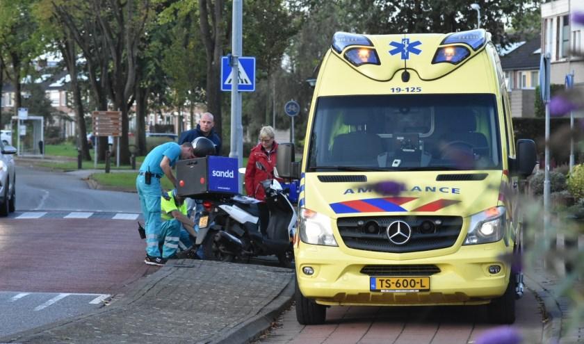 De ambulance kwam met spoed ter plekke.