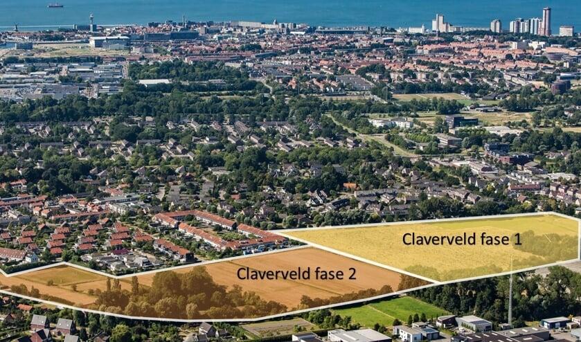 De nieuwe wijk Claverveld bestaat uit twee fases.