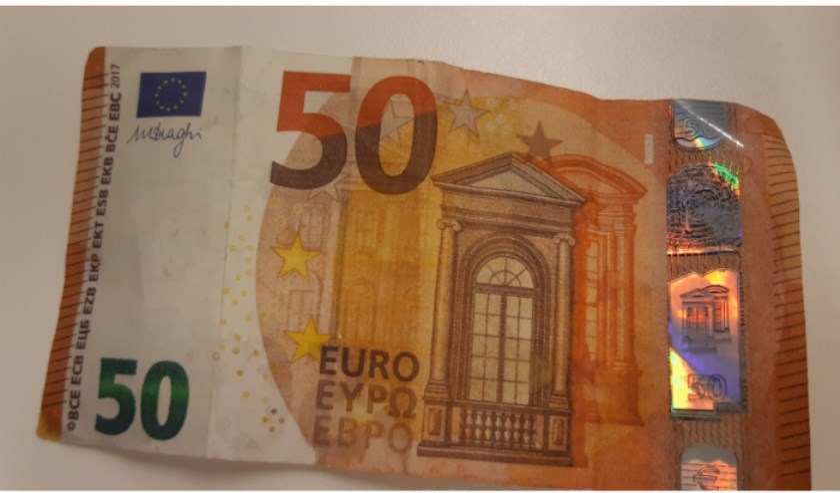 Het valse briefje van vijftig euro.
