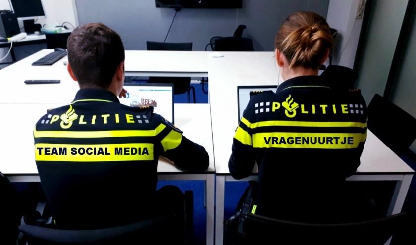 De politie houdt een vragenuur op Facebook en Instagram.
