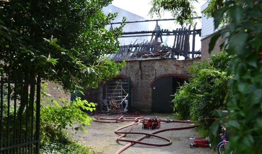 Bij het uitgebrande Koetshuis wordt nog bekeken wat de mogelijkheden zijn
