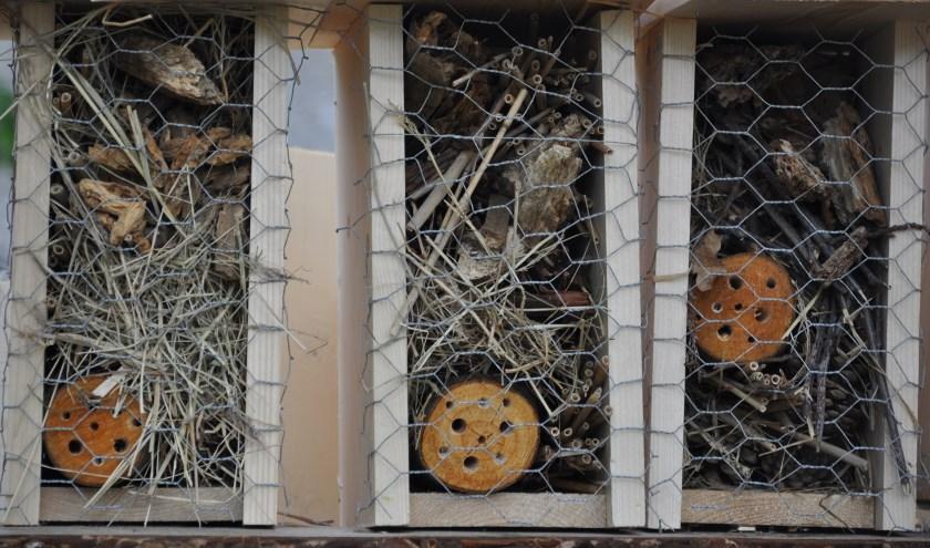 Zo ziet een echt insectenhotel eruit. FOTO LEO DEN HEIJER