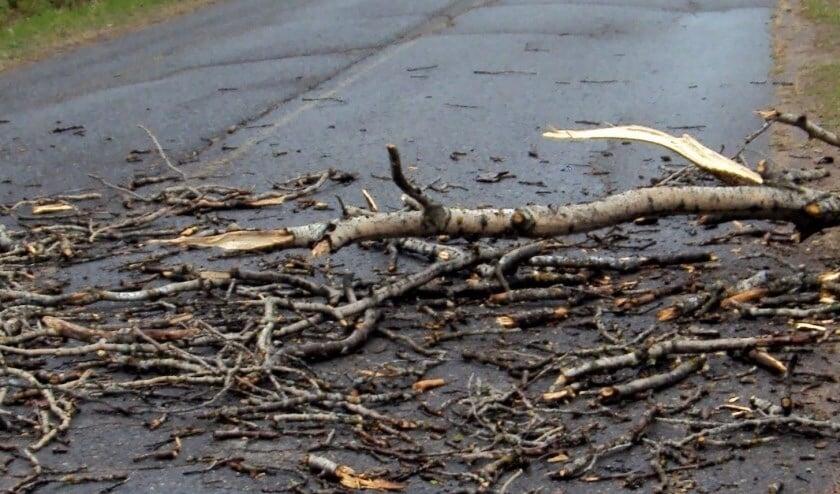 Eerdere stormschade, foto ter illustratie.