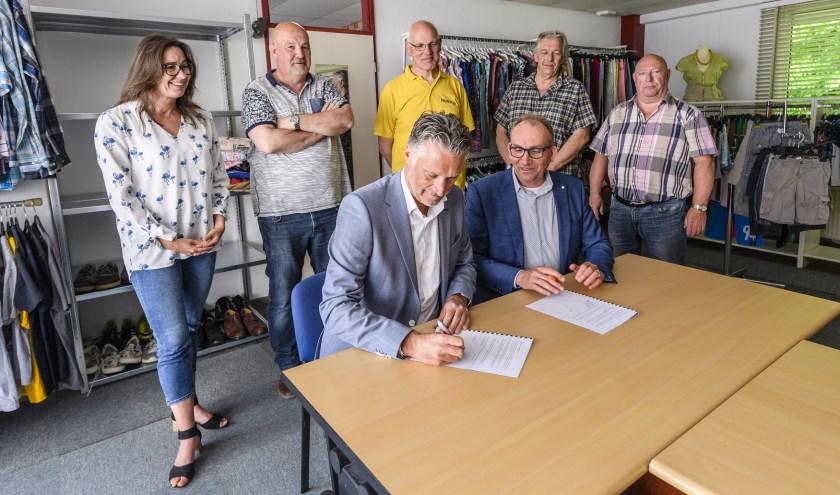In mei 2018 werd de samenwerkingsovereenkomst tussen De Kringloper en Werk Voorop getekend.