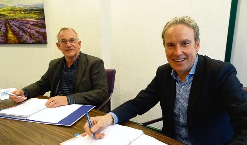 Jan Oprins (l) en Kees van den Buijs: 'Meer dan dertig jaar innovatie brengen we nu samen'.