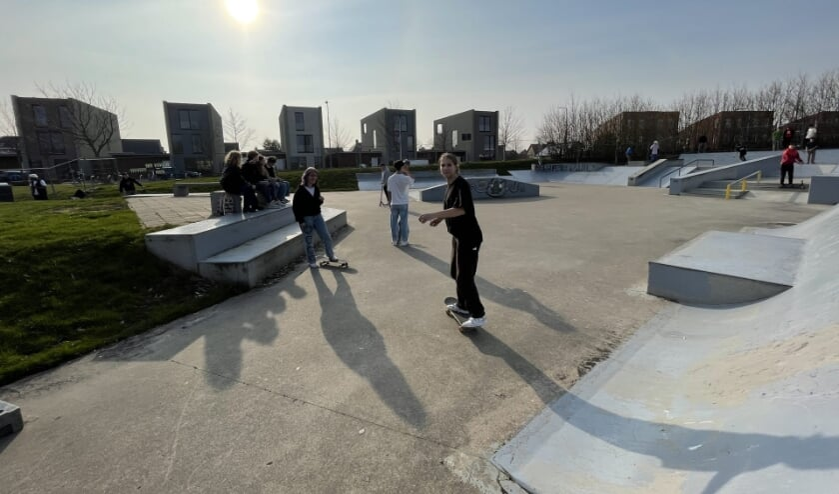 De bestaande skatebaan Veersepoort, maart 2021
