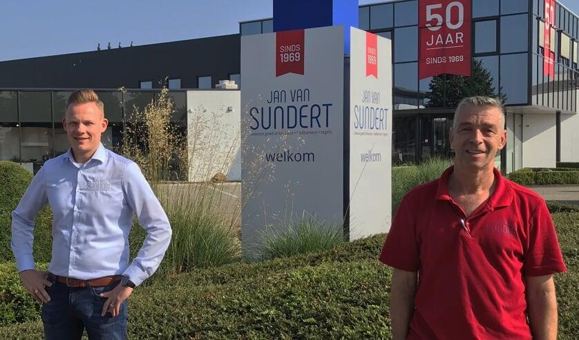 <p>Jordy en Pascal bij Jan van Sundert.</p>
