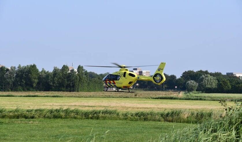 De traumahelicopter bij de Schotelweg