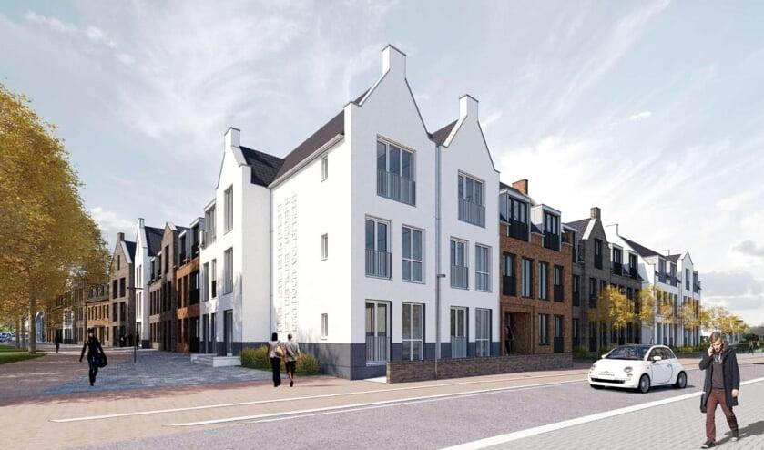 <p>Zo komt de nieuwbouw op de hoek van het Oranjeplein en de Burgemeester Stemerdinglaan eruit te zien.</p>