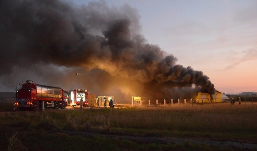 Rond 06.00 uur werd de brand ontdekt.