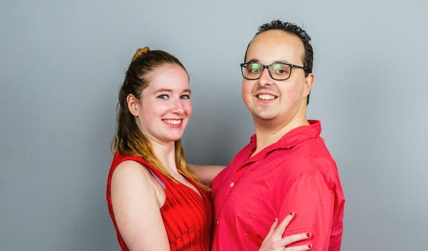 <p>Merel met haar danspartner Danny.</p>