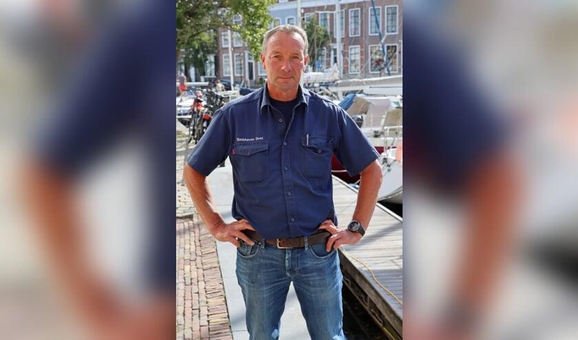 <p>De Goese havenmeester Cor van de Vliet.</p>