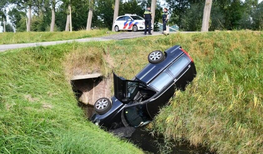 De automobilist kon zelf het voertuig verlaten.