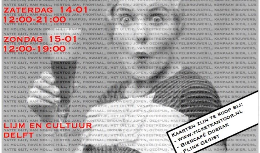 Op 14 en 15 januari strijken zestienNederlandse microbrouwerijen neer bij Lijm & Cultuur.