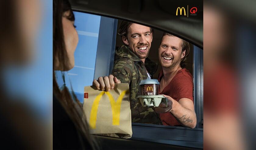 Mattie & Wietze komen woensdag naar McDonalds Delft Noord.