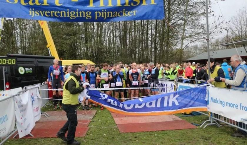 De start van de RunBikeRun, vorig jaar.