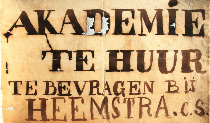 Protestaffiche dat gemaakt werd na sluiting van de Koninklijke Akademie, 1861 (Archief 598, inv.nr1557)