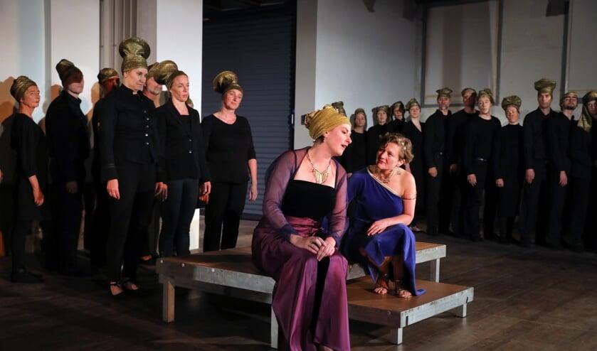 Repetitie doorloop van 'Dido en Aeneas', een opera van Henry Purcell