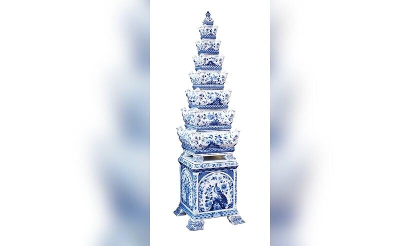 De prachtige originele tulpenvaas, te bewonderen bij Royal Delft