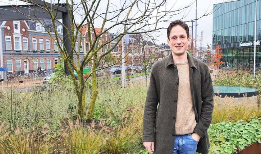D66-raadslid Boris van Overbeeke wil een duurzamer Delft.