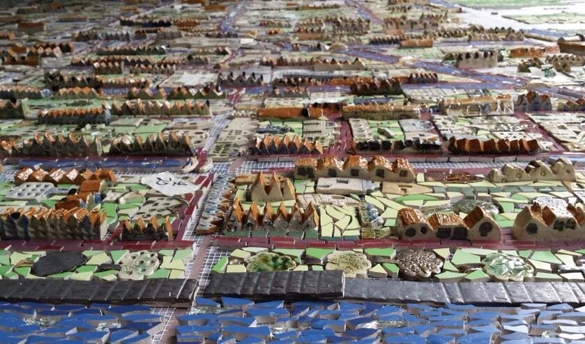 De Keramieken Kaart van Delft nadert haar voltooiing
