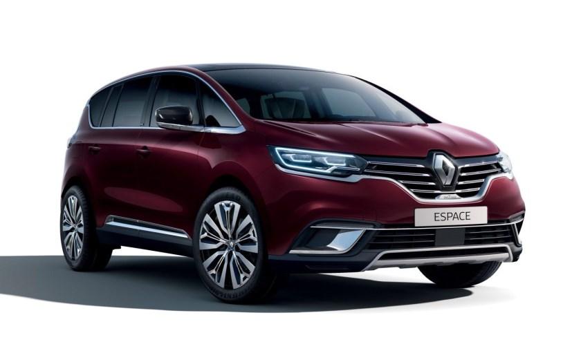 De voorkant van de Top-versie Renault Espace waar diverse wijzigingen in aangebracht zijn.