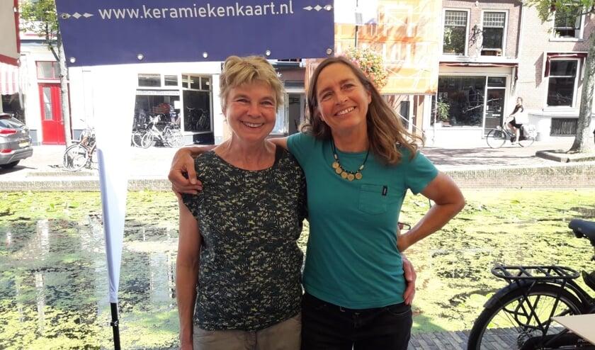 Annelies Verhoef (l) met initiatiefneemster Nan Deardorff-McClain
