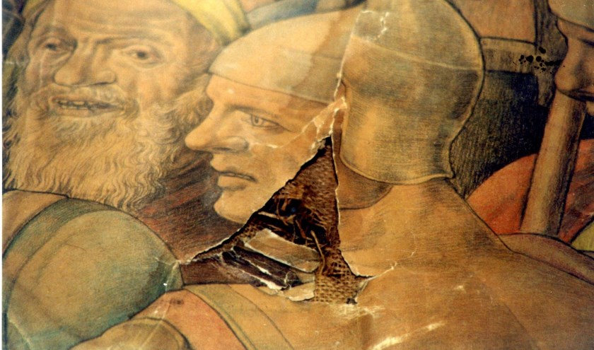 Bij de sloop van de kerk zijn de staties zwaar beschadigd geraakt