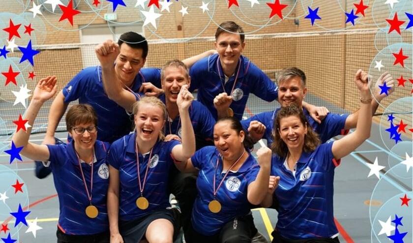 De trotse kampioenen van BC Delft team 6!