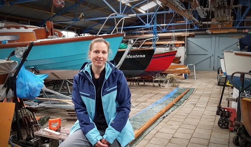 Renate Overhage, enthousiaste voorzitter van de Delftse Watersport Vereniging