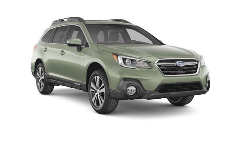 De Subaru Outback 2019 in Wilderness Green Metallic.