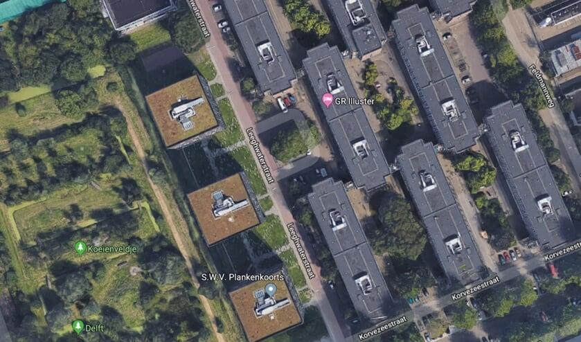 Er is een drastisch tekort aan studentenwoningen. (Foto: Google Earth)