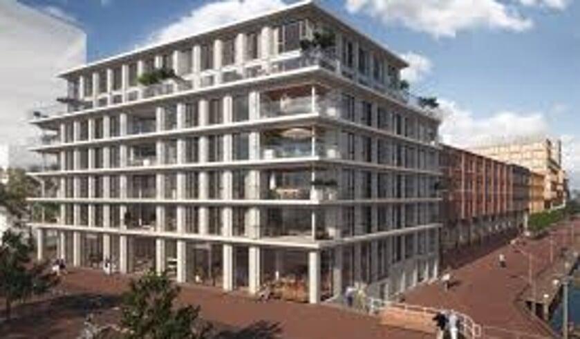 Een appartementencomplex deel uitmakend van Nieuw Delft.
