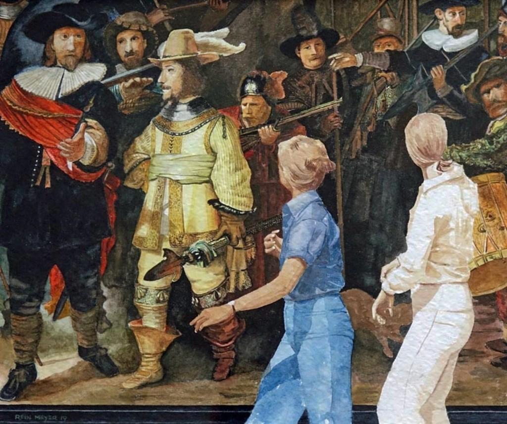 Het werk 'Passanten' van Rein Meijer  © RODI Media-zh