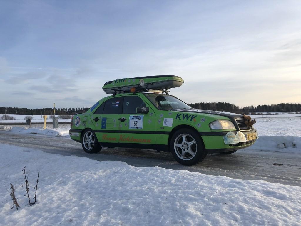 De auto waarmee aan de Carbage Run Road Trip werd meegedaan  © RODI Media-zh