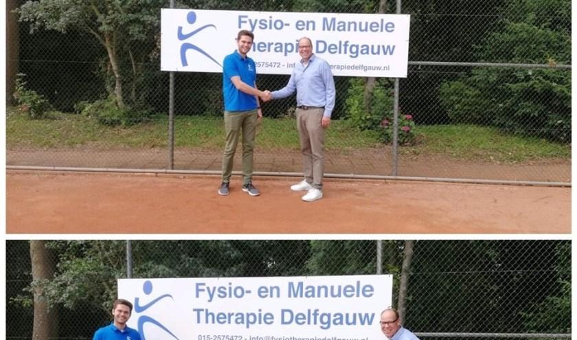 Fysio- en Manuele Therapie Delfgauw is blij met de samenwerking met Tennisvereniging De Delftse Hout. (Foto: PR)