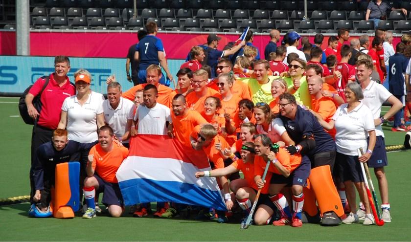 Goud en brons voor het Nederlandse G-hockeyteam tijdens het EK