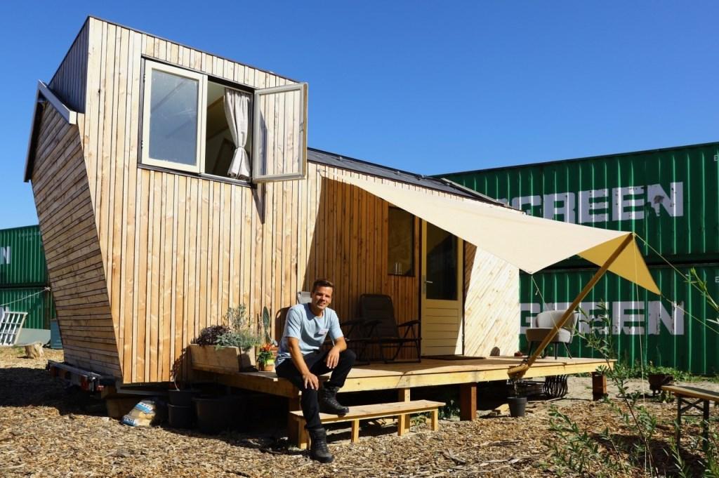 Feestelijke opening tiny houses door Wethouder Bas Vollebregt Foto: KOOS BOMMELE © RODI Media-zh