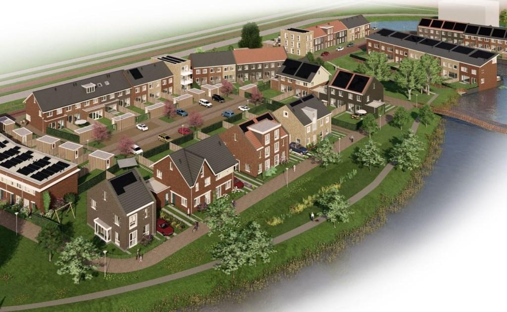Den Hoorn is de laatste jaren steeds verder uitgebreid, De Kreek is het laatste woningbouwproject.  © RODI Media-zh