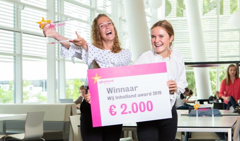 De winnaars: Mabel Engels en Marije Gelderloos