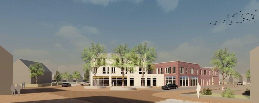 De planontwerpen voor het nieuwe winkelgebied in Den Hoorn.  © RODI Media-zh
