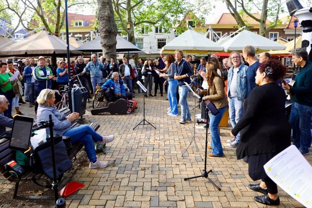Foto's protest tegen het muziekbeleid in de stad Foto: KOOS BOMMELE © RODI Media-zh