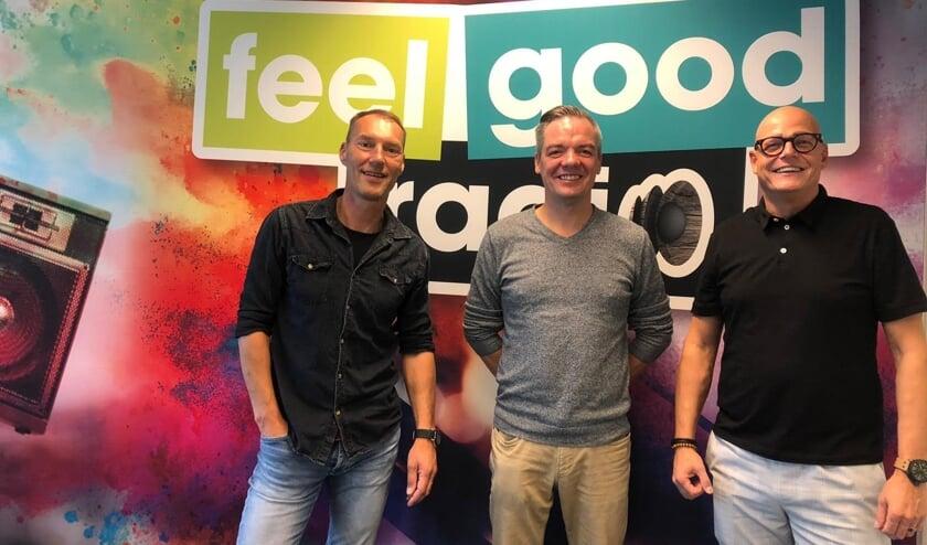 Kees van Baalen, Remco Ruijgers en Bernard ter Horst van Feel Good Radio