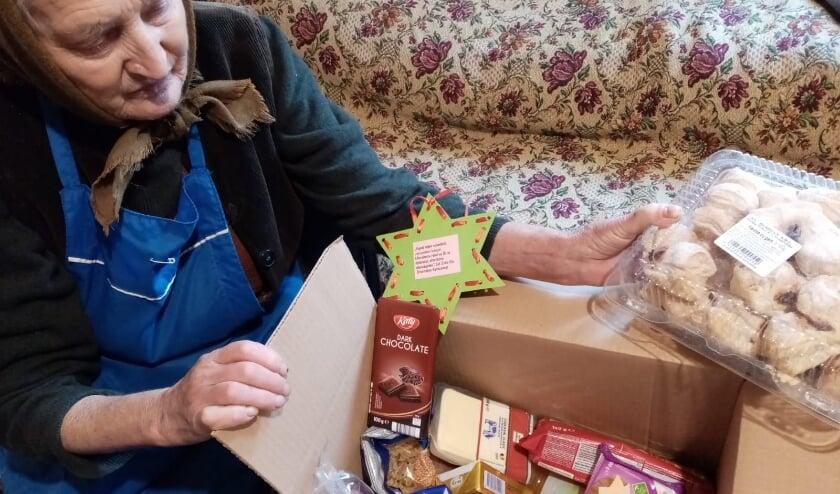 Pakketten kunnen worden uitgedeeld dankzij de succesvolle voedselactie