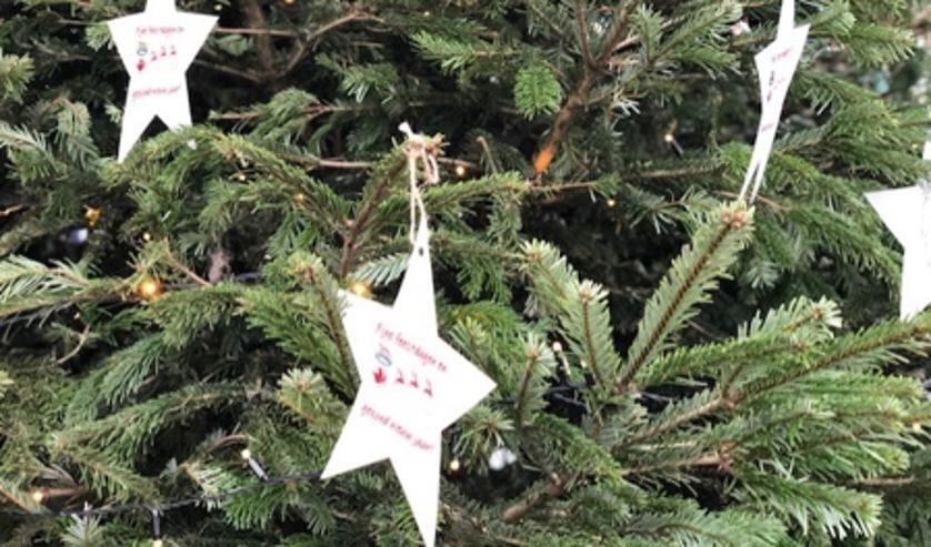 <p>Basisschoolkinderen hebben hun kerstwensen in de kerstboom bij De Yp gehangen</p>