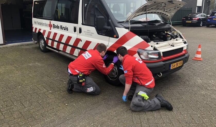 De vrijwilligers van het Rode Kruis bereiden zich voor op acties