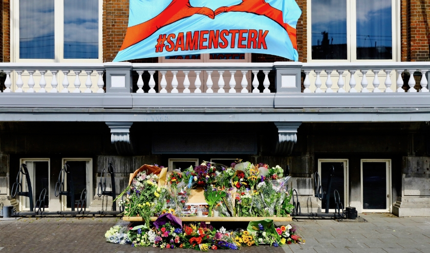 De gedenkplaats bij de Delftse studentensociëteit (Foto: Koos Bommelé)